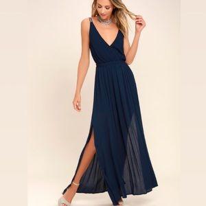 Lulu's Lost In Paradise Blue Maxi Dress